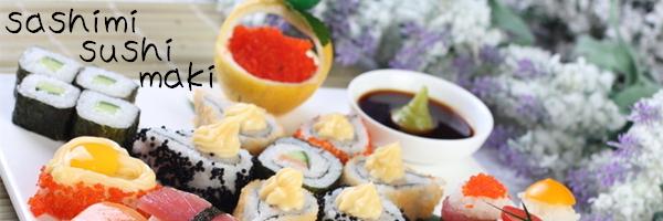 menus Maki sushi sashimi